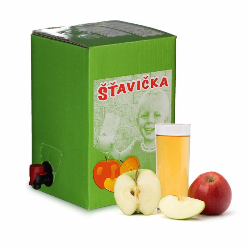 100% jablková šťava v 5 litrovej krabici